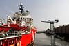 Vos Pathfinder arriving in James Watt Dock