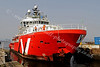 Vos Pathfinder through the gap at James Watt Dock