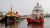 Vos Pathfinder arriving at James Watt Dock withSD Warden