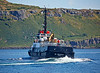 SD Oronsay Does a Tight Turn after the Helicopter Exercise 17 July 2014