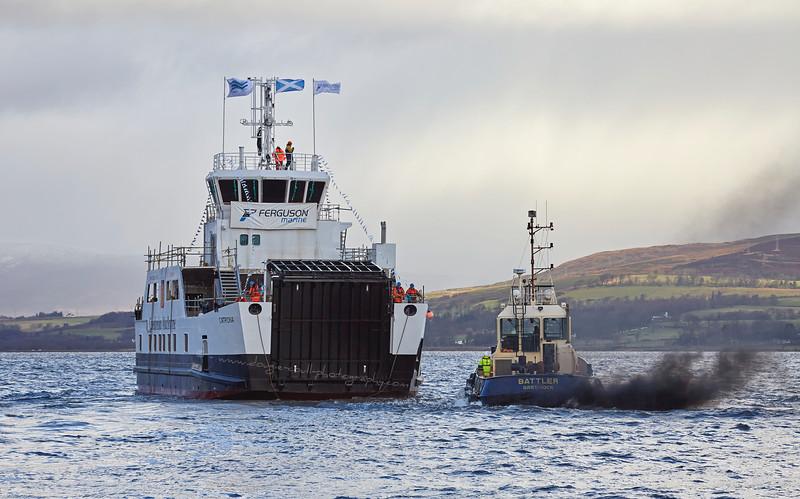 'Battler' secures the MV Catriona after the Launch - 11 December 2015