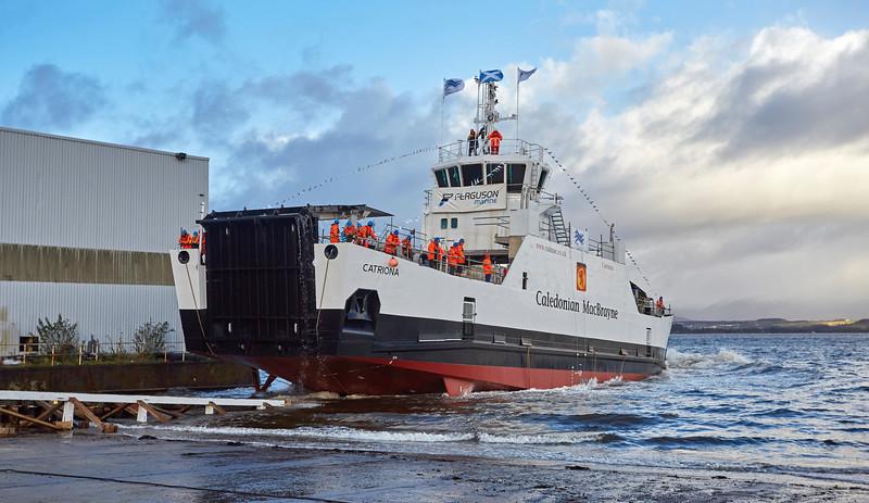 Launch of the MV Catriona at Ferguson Marine Shipyard - 11 December 2015