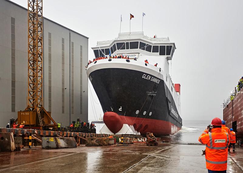 Glen Sannox Launch at Ferguson Marine Shipyard - 21 November 2017