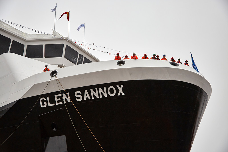Glen Sannox Launch at Ferguson Marine Shipyard - 21 November 2017