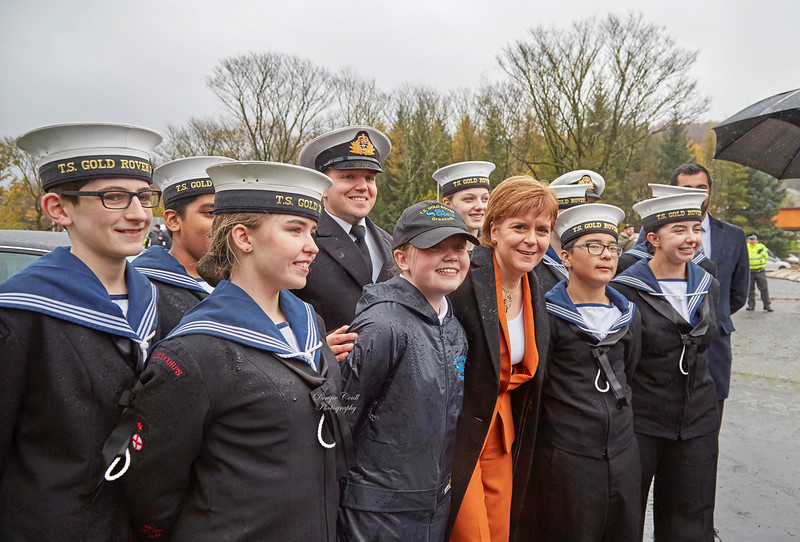 TS Gold Rover Sea Cadets at the Glen Sannox Launch- 21 November 2017