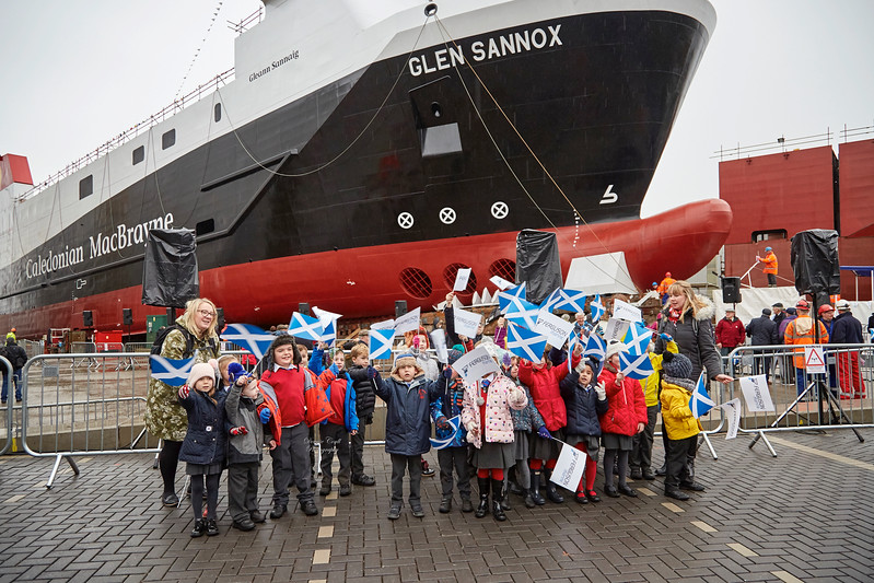 Local School Children at the Glen Sannox Launch - 21 November 2017