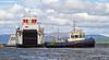 Final Manoeuvres to Berth 'MV Lochinvar' - Ferguson Shipbuilders, Port Glasgow - 23 May 2013