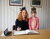"Patricia Platten Signing Prior to Launching ""Mv Lochinvar' - Ferguson Shipbuilders, Port Glasgow - 23 May 2013"