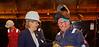 First Minister enjoys a joke at Ferguson Marine Shipyard - 31 August 2015