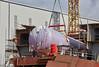 LNG Tank Being Installed at Ferguson Marine Shipyard - 16 July 2017