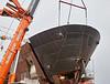 Bow Fitting on Glen Sannox at Ferguson Marine Shipyard - 4 September 2017