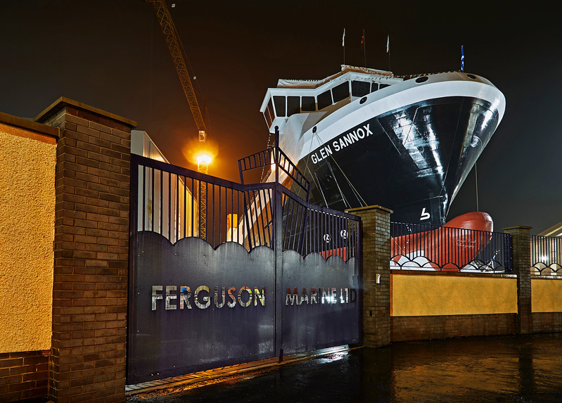 'Glen Sannox' at Ferguson Marine Shipyard - 20 November 2017
