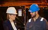 First Minister in conversation at Ferguson Marine Shipyard - 31 August 2015