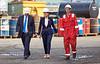 First  Minister Nicola Sturgeon arriving at Ferguson Marine Shipyard - 31 August 2015