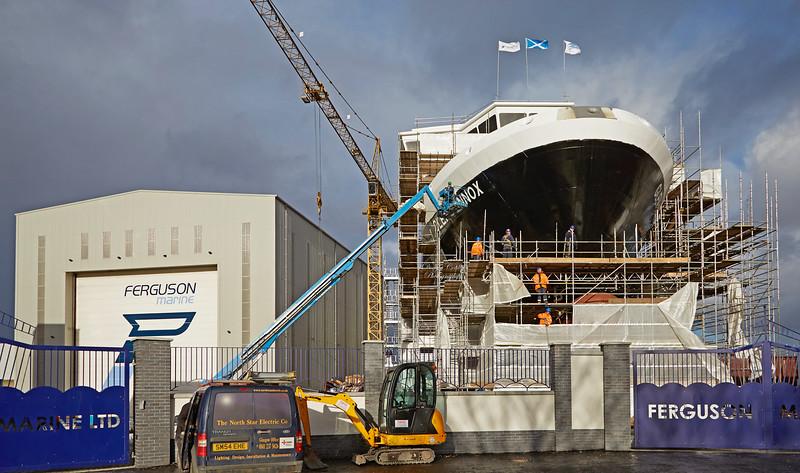 'Glen Sannox' at Ferguson Marine Shipyard - 17 November 2017