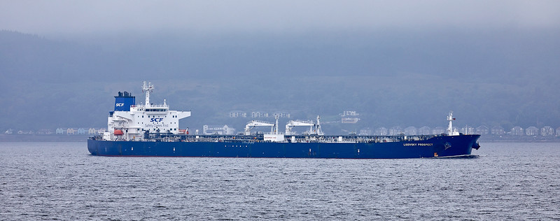 'Ligovsky Prospect' passing - Cloch Lighthouse - 21 August 2018