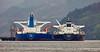 'Ashna' and 'Pissiotis' at Finnart Oil Terminal in Loch Long - 7 December 2015