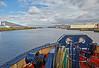 Heading Downriver Past Braehead - 2 May 2016