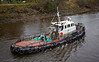 'Coastrunner' at the Bascule Bridge - 9 March 2014