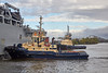Svitzer Tugs Assisting the 'HMS Bulwark' at Shieldhall Quay - 2 May 2016