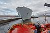 'Ayton Cross' assisting 'HMS Bulwark' at Braehead - 2 May 2016