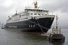 Hebrides Moving from Garvel Dry Dock to James Watt Dock