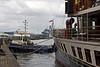 Battler and PS Waverley at Custom House Quay, Greenock