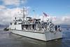HMS Penzance Dock Move - Garvel Dry Dock - 20 August 2012