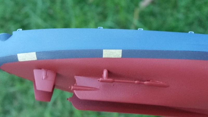 170714 BB67 Hull Paint (Note boot topping width markers)