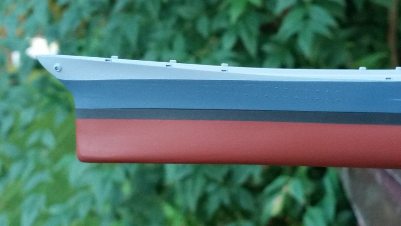 170714 BB67 Hull Paint (Not happy with the line between 5-H and 5-N)