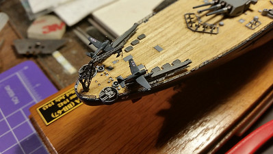 170928: Scout aircraft are sourced from Tamiya BB-63 sprues.