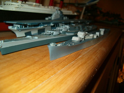 051108 CA72: Initial paint on deck and turrets.