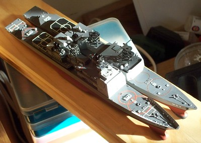 081120: Skywave CG-47 (waterline kit) and Arii DD-983 (full-hull kit) in 1/700.