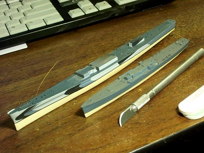 090305 Basswood bottom for USS San Juan (CL-54)
