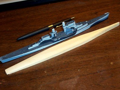 090224 Basswood bottom for USS San Juan (CL-54)