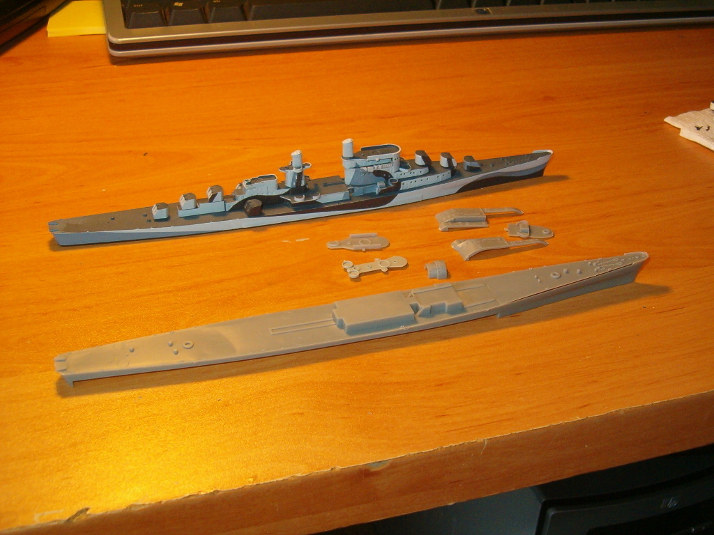 060917 USS Oakland kit by Dragon.  Looking for parts to correct oversized pilothouse. (which I just discovered...)