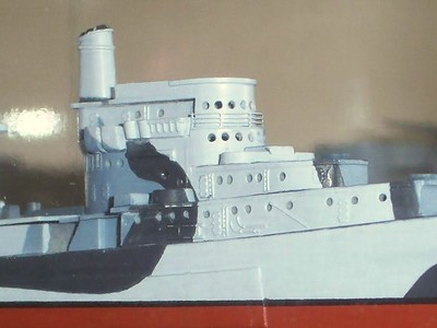 USS San Juan (CL-54) (1/700 Skywave Atlanta) showing corrected pilothouse and flying bridge.
