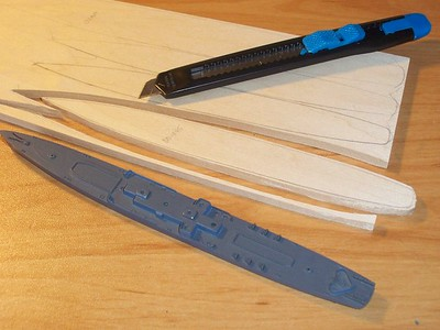 """Basswood cuts remarkably easily by scoring with 3-4 passes.  (1/4"""" basswood)"""