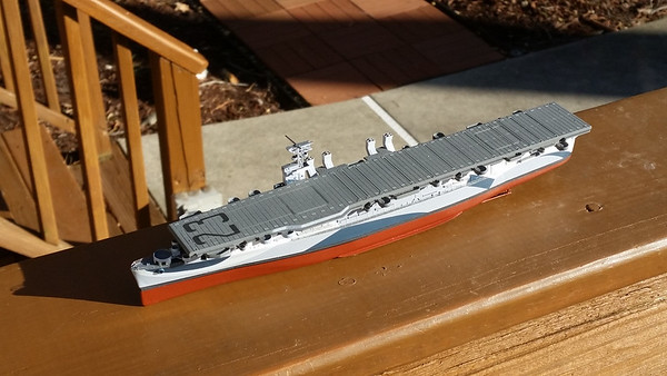 180124 CVL-23 Initial PE after assembly of hull & flight deck.