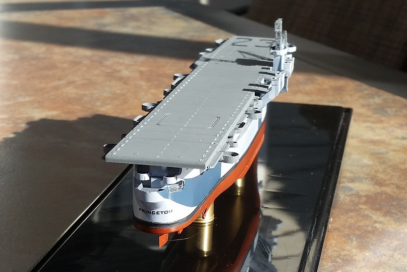 180125 CVL-23 Initial PE after assembly of hull & flight deck.