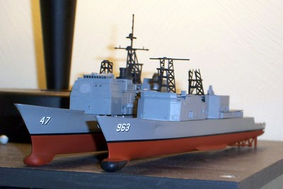 081118: CG-47 sporting her own new hull, borrowed from a still-in-the-box Dragon DD-963.