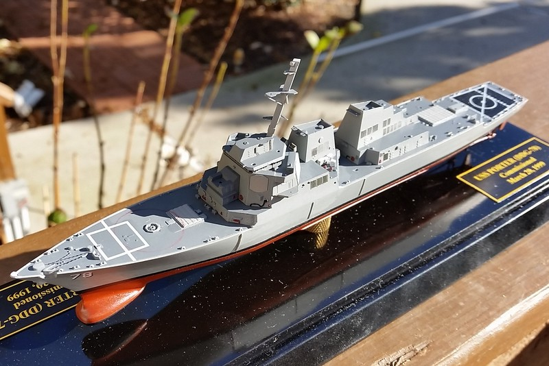 161207 DDG78 Initial outfitting. Kit decals except for hull numbers and name on stern.