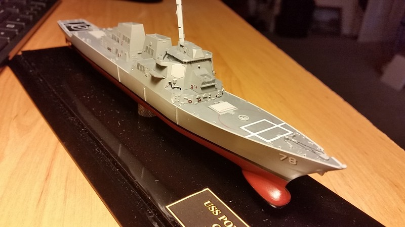 161206 DDG78 Phase II assembly. Kit decals except for hull numbers and name on stern.