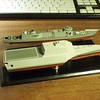 101107 LCS-2, decal application.  Love the individual elements of the flight deck decal, but it is time consuming!