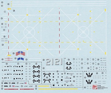 Dragon 7110 LPD-21 Decal sheet