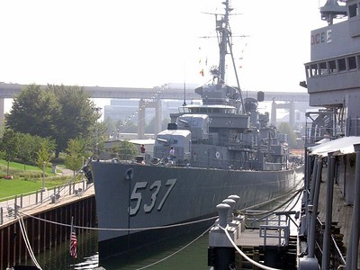 USS Sullivans, named after 5 brothers killed on the USS Juneau in WW II
