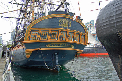 Three of the six Maritime Museum Ships