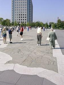Bi-Centenial Park State Map in Concrete & Brass