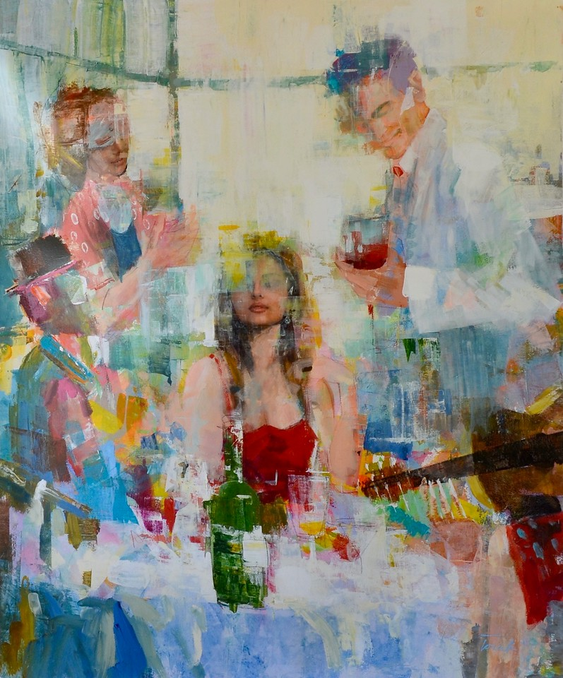 Life in Motion-Torabi, 64x52 painting on canvas (AEDJC17-11-29)