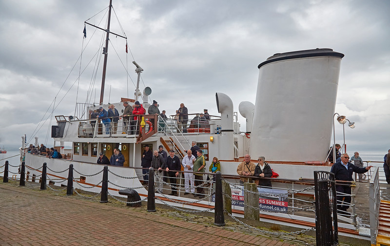 MV Balmoral at Custom House Quay, Greenock - 25 September 2017